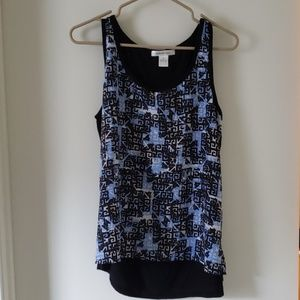 Abstract silk Tank top